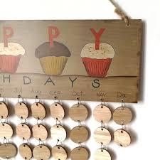 diy wooden family and friends happy birthday calendar reminder board round