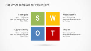 flat swot analysis design for powerpoint slidemodel flat swot analysis design for powerpoint
