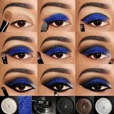 step by step blue eye makeup