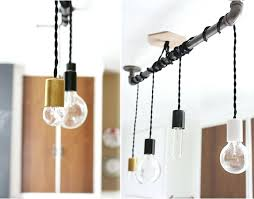 diy pipe chandelier pendant hanging from pipe so there you have it a simple upgrade to