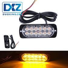 Strobe Light In Store Wholesale Strobe Light Bar 12 Led Flash Emergency Warning Caution Beacon Lamp Red Blue Dc12v 24v