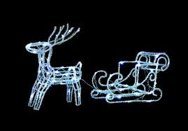 uk gardens led le reindeer and sleigh decoration outdoor indoor