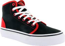 vans shoes black and red. vans 106 hi kids shoes - (pop) black/red black and red g