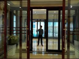 smart glass sliding door on