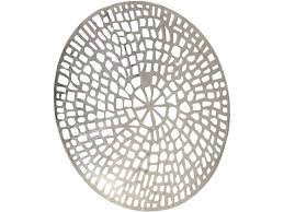 c design round wall plaque in textured aluminium