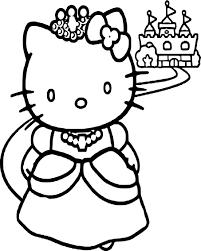 Coloriage Hello Kitty Princesse Dessin Imprimer Sur Coloriages