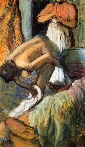 breakfast after the bath 1894 edgar degas oil painting