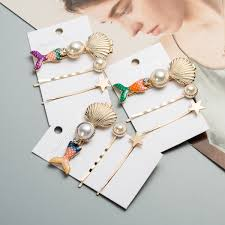3Pcs/Set Bride <b>Fashion</b> Women Hairpin Vintage <b>Shell Pearl</b> Hair ...