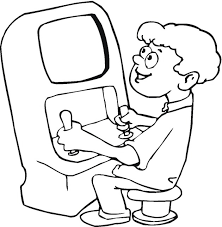 Coloring Pages Playing Video Game Colouring Pages Games Coloring