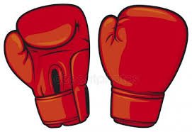 red boxing gloves stock vector
