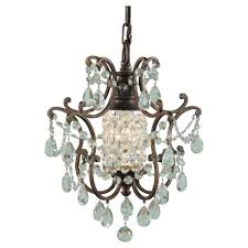 w 1 light british bronze mini chandelier
