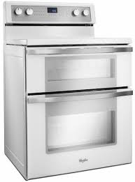 white electric range. WGE755C0BH Whirlpool 6.7 Total Cu. Ft. Double Oven Electric Range With True  Convection Cooking - White Ice White Electric Range