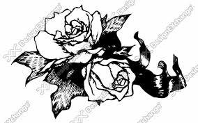 バラの花とリボン Ilm10de02018 イラスト素材集写真素材集