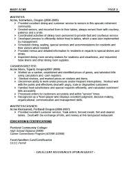cocktail server resume template waitress sample of cover letter waiters  lette