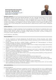 Management Cv Facilities Operations Manager Cv