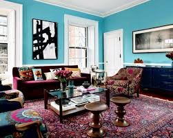 eclectic living room furniture. Fine Living Eclectic Furniture Why Not  Delightful Image Of Colorful Living Room  Decoration Using Maroon Velvet Sofa Including Bright Light Blue  And Furniture E