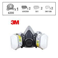 Us 29 73 5 Off 3m 6200 6002 Half Facepiece Reusable Respirator Respiratory Protection Niosh Standard Gas Cartridges Acid Gas Mask F0000 In Chemical