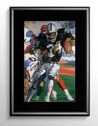 bo jackson football painting