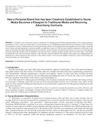 Pdf How A Personal Brand That Has Been Creatively