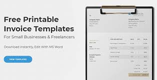 Free Invoice Template Word Awesome Free Word Invoice Templates On Behance