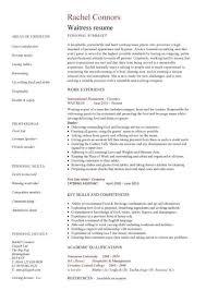 Waitressing Resume Waitress Resume Template