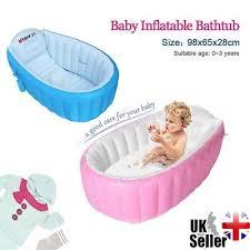 baby inflatable bathtub portable newborn toddler kid bath tub thick mommy helper
