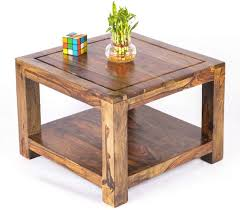 Small Center Table Designs Urbanwood Rectangle Sheesham Wood Center Table For Living Room Wooden Small Coffee Table Tea Table With Shelf Storage Teak Brown Finish