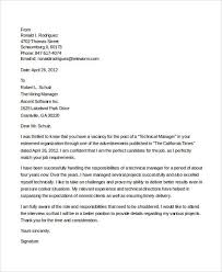 Cover Letter Sample For Supervisor Position 7 It Manager Cover Letter Free Sample Example Format