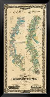 Lower Mississippi River Charts Chart Of The Lower Mississippi River C 1858
