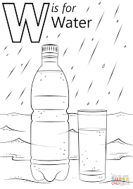 Small Picture Letter W Is For Water Coloring Page Free Printable Pages Within