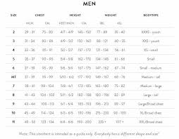 Orca Equip Size Chart Orca Equip For Men