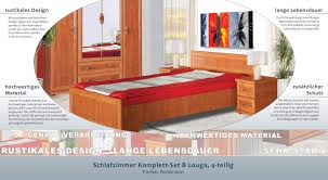 Schlafzimmer Komplett Set B Louga 4 Teilig Farbe Rotbraun