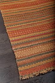 casual natural fiber red brown orange jute rug 36223