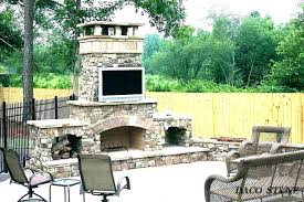 outside fireplace kits ideas backyard stone outdoor kit indoor uk