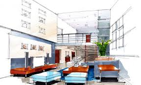 Decoration Interior Designing Sketches With Bedroom Interior Design Sketches  D House Free D House Pictures