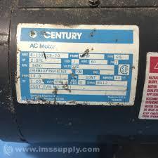century electric motors 8 158029 20 hp2 rpm3450 ph1 230v 56y ims supply