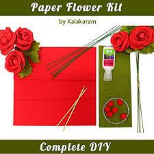 Rose Paper Flower Making Kalakaram Diy Paper Flower Making Kit Make 5 Beautiful