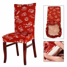 1 pcs removable cartoon printed stretch slipcovers short dining room stool seat chair cover