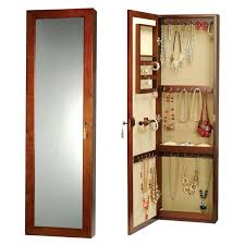 wall mounted jewelry armoire jewellery with mirror wooden white mount wall mounted jewelry armoire