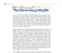 the worst day of my life gcse english marked by teachers com document image preview