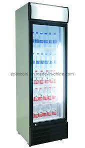 commercial used beverage cooler glass door for 380l