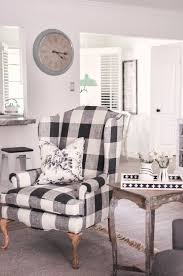 Black and white chairs living room Interior Black And White Buffalo Check Chair Love And Specs Our Farmhouse Living Room Makeover Our Buffalo Check Chair Love