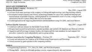 Qa Lead Testing Sample Resume With Objective Sample Format For