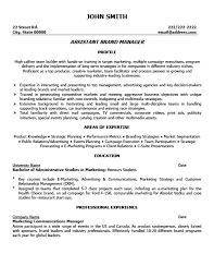 Assistant Brand Manager Resume Template Premium Resume Samples