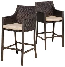 gdfstudio rani brown outdoor bar stools set of 2 view