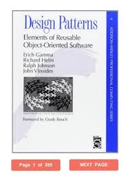 Design Patterns Elements Of Reusable Object Oriented Software Pdf Stunning Design Patterns Erich Gamma PDF Elements Of Reusable ObjectOriented