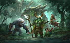 dota 2 ursa tiny natures prophet enchantress treant protector