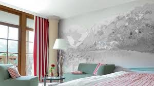 master bedroom with monochrome wall mural