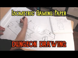 Drawing A Dungeon On Isometric Gaming Paper Youtube