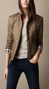 Burberry brit Check Cuff Quilted Jacket in Brown | Lyst & Gallery Adamdwight.com